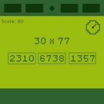 Equation solving mini-game
