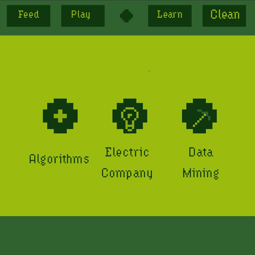 Mini-game menu screen